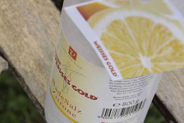 WEISSES GOLD® Badesalz Zitrone 800g